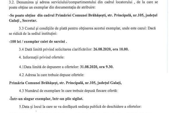 07.08.2020 Anunt Licitatie publica